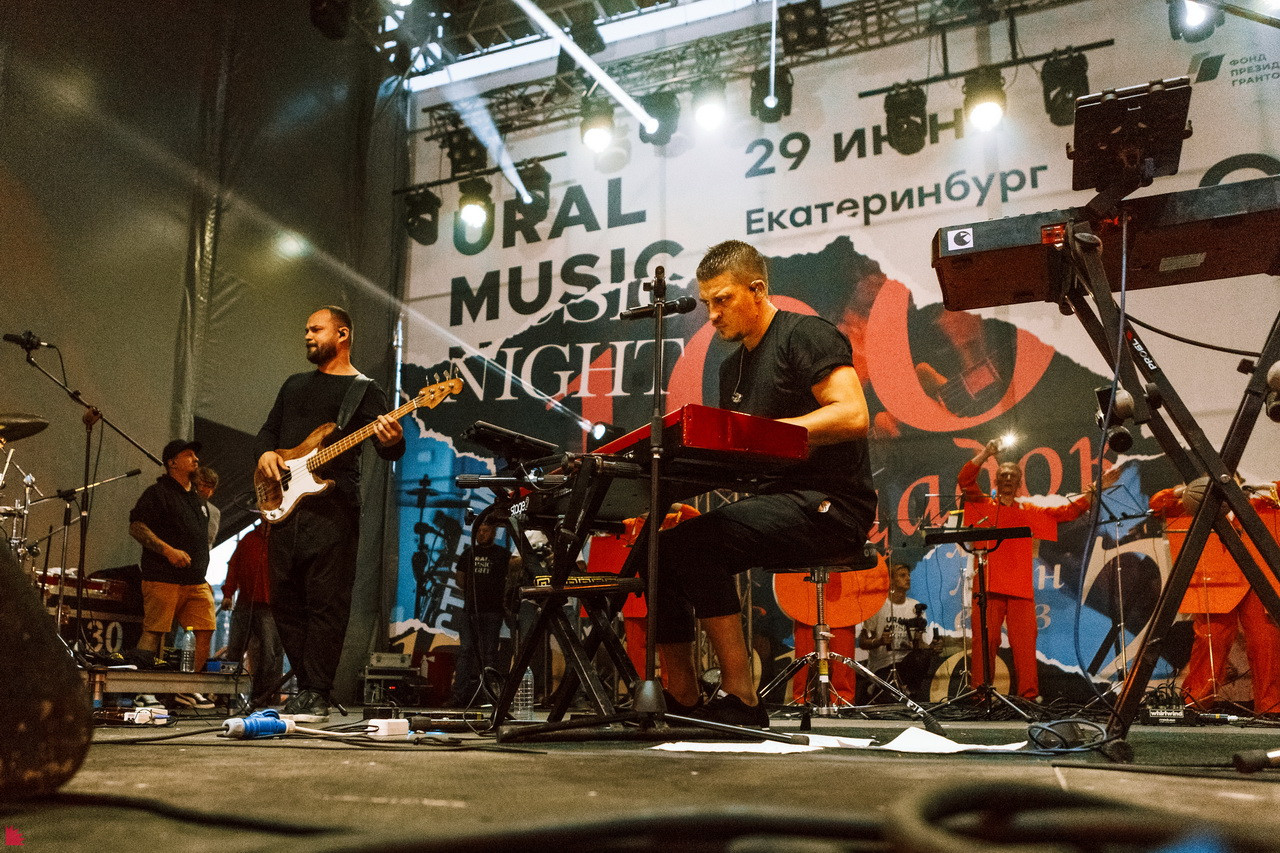 Оформление сцен к фестивалю Ural Music Night
